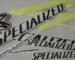 Stickerriese Specialized Stumpjumper reflektierende NEON Gelb - Schwarz Aufkleber Satz Bike Decals