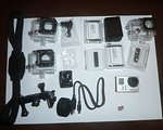Gopro 3+ Silver + LED touch Bac Pac + 32 GB micro SD