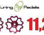 Tuning Pedals 2x Tuning Pedals Schaltröllchen für Shimano, Sram, Red, Dura Ace, Ultegra, XTR, XX, X0