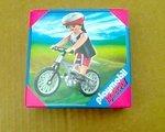 Playmobil MTB Radfahrerin Mountainbikerin mit Helm und Mountainbike