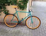 Chill Bikes BASE - Matt Turquoise/Anodised Orange rims