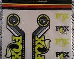 Fox Decal Kit Set Gabel und Dämpfer 2015 gelb
