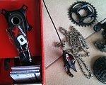 SRAM X01 DH 7fach Gruppe komplett - Kurbel Neu!