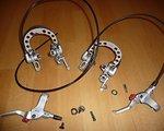 Magura HS 33 silber Set vorne und hinten Sorglosbremse