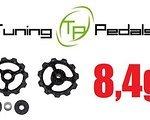 Tuning Pedals 2x Carbon Schaltröllchen, 11 Zähne, 2x4,2g Shimano,Sram