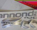 Stickerriese Cannondale Silber Metallic Aufkleber Satz