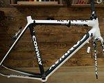 Conway Rennradrahmen Carbon Conway Q RC 1100 56cm weiß-schwarz. Neu!