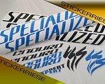 Stickerriese Specialized Enduro Expert Blau-Schwarz Mix Aufkleber Satz
