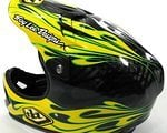 Troy Lee Designs D2 Carbon Helm black/yellow flame Gr. XL/XXL