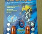 Tireflys UV LED-Ventilkappen-Set orange