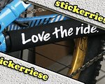 Stickerriese Individuelle Kettenstrebenschutz, 1A Qualität, Chainstay guard, Protector, Love the Ride, Specialized, Riding with Dead.....