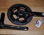 SRAM Red 22 Rennrad Kurbel aus Carbon, Compact, BB30, Exogram, 175mm Armlänge