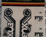 Fox Decal Kit Set Gabel und Dämpfer 2015 schwarz/weiss