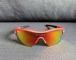 Oakley Radar Path Sonnenbrille, Fire Iridium / Clear Glas