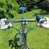 Cicli Vintage Retro Neuaufbau Cicli Stahlbike vollverchromt und türkis
