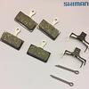 Shimano 2 Paar Scheibenbremsbeläge G03A Resin mit Feder und Splint