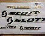 Scott Voltage Scwarz/gold Rahmen Decals