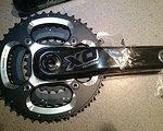 """Truvativ SRAM XO Silver kurbel 3x10-fach BB30 44/33/22   """"NEU"""""""