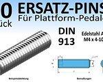 Wasi Gmbh & Co. Kg (Wuppertal, Deutschland) 50 Stk. Ersatz-Pins / Ersatzteile für Plattform-Pedale (Edelstahl A2 oder A4, DIN 913; M4x 4, 5, 6, 8 oder 10mm) mit Innensechskant (NEU)