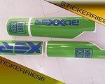 Stickerriese Rock Shox Boxxer Casting Aufkleber Satz 2010 - 2012 grün - blau