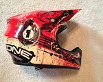 661 SixSixOne Helm, Fullface Helmet, Voll Visir Helm, rot/gold/schwarz, Größe S, guter Zustand