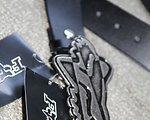 Fox Head Bonded Leather Gürtel, neu mit Etikett, schwarz in der Größe L