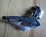 Campagnolo Umwerfer Campagnolo Carbon Record, gebraucht, ca.50g, 2-fach, 10Speed, mit Carbon getuned