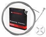 Promax Bremszug Bowdenzug Bremsseil 1,5mm 2m mit Endhülsen, Rennrad, Fixie, Cyclocross