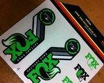 Fox Fork & Shock Heritage Decal Kit Grün Neu!