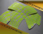 Stickerriese ENVE Felgen Aufkleber Satz REFLEKTIERENDE NEON GELB Rim Decals