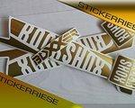 Stickerriese Rock Shox Boxxer 2015 Aufkleber Satz Gold Metallic Casting Decals