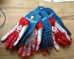 661 SixSixOne Comp Glove, red/white, 3Paar, Gr. SM