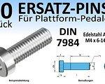Wasi Gmbh & Co. Kg (Wuppertal, Deutschland) 50 Stk. Ersatz-Pins / Ersatzteile für Plattform-Pedale (Edelstahl A2 oder A4, DIN 7984; M4x 6, 8, 10, 12 oder 14mm) mit Innensechskant (NEU)
