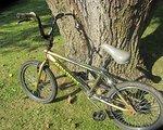 Rawbone BMX mit Pegs und Ersatzreifen