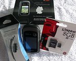 Garmin GPS-Gerät eTrex 30 (010-00970-23) inkl. 8 GB Speicherkarte und Lenkerhalterung fürs Rad