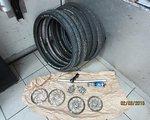 Shimano Fahrradteile Konvolut; SRAM, Shimano, Rock shox, Schwalbe,
