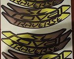 Specialized Roval Traverse Carbon Decals 29 Zoll gelb