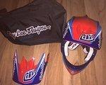 Troy Lee Designs TROY LEE Helm D3 Composite Mirage blue Größe L