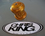 "Chris King 1.5"" Steuerstz Sotto Voce Logo Gold +Top+"