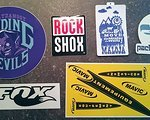 Rock Shox Diverse Sticker / Decals von Maloja, FOX, Rock Shox, Platzangst, Mavic