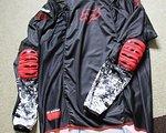 Fox langarm Jersey / Trikot MTB Downhill Freeride Enduro Bike, schwarz/rot in der Größe L