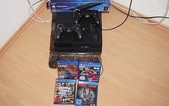 Sony PlayStation 4 PS4 1TB (CUH-1216B) mit 4 Spiele, 2 Controller, Vertical Stand und Wandhalterung *Preisupdate* (Tausch möglich)