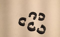 Jagwire 5 Stück Jagwire C-Clip Zugbefestigung Klammer schwarz CCZ021