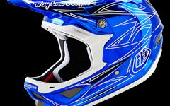 Troy Lee Designs D3 HELM PINSTRIPE 2 BLUE CHROME Gr. XL Neu