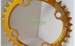 Aluminium Ovales Narrow-Wide Kettenblatt, 34T, 104er Lochkreis *gold*