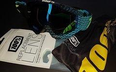 100% Goggle ACCURI R-Code schwarz/blau verspiegelt