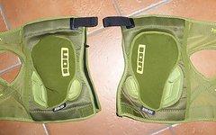 ION K-Lite ZIP Knieschoner grün Gr.S NEU