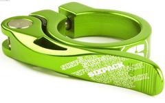 Sixpack Menace Sattelklemme, electric-green (limetten-grün), 31,8mm NEU!!
