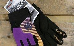 """Sombrio Handschuhe Modell """"Cartel"""" Größe M (lila mit gelb) NEU!"""