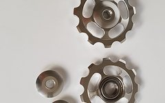 Cyconsult® Aktion! Aluminium Schaltwerkröllchen Set / 11 Zähne / Pully 11T *silber*